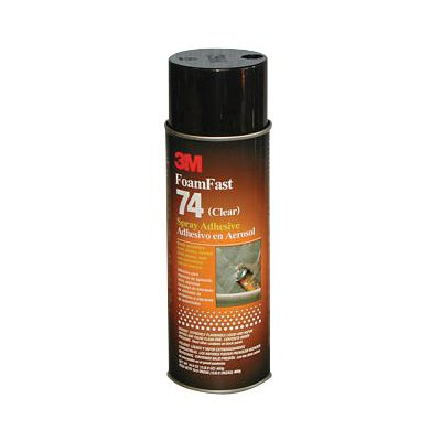 50045-3M Foam Fast 74 Spray Adhesive Clear