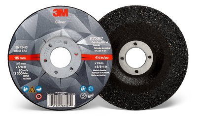 87397-Silver Depressed Ctr Grinding Wheel, Type 27 Quick Change