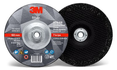 87448-Silver Depressed Ctr Grinding Wheel, Type 27 Quick Change