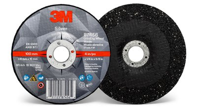 87456-Silver Depressed Center Grinding Wheel, Type 27
